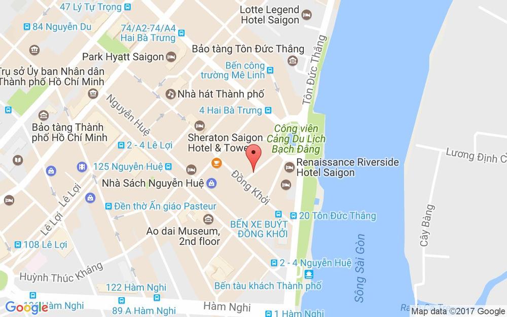 Vị trí bản đồ 133 Trần Đình Xu, P. Nguyễn Cư Trinh Quận 1 TP. HCM