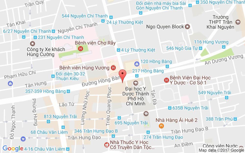 Vị trí bản đồ 227 Hồng Bàng Quận 5 TP. HCM