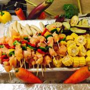 Thịt và rau củ nướng