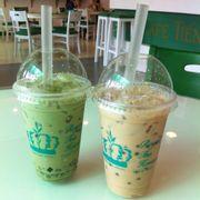 Trà sữa trà xanh, trà sữa chanh dây