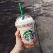 Pink Peach Blossom Cream Frappuccino