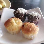 mufin nho khô - chocolate dừa