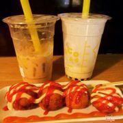 Trà sữa và takoyaki