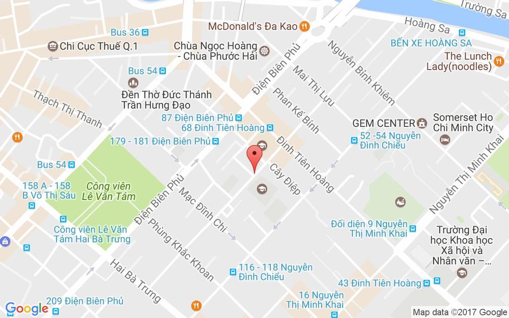 Vị trí bản đồ 2 Trần Doãn Khanh Quận 1 TP. HCM