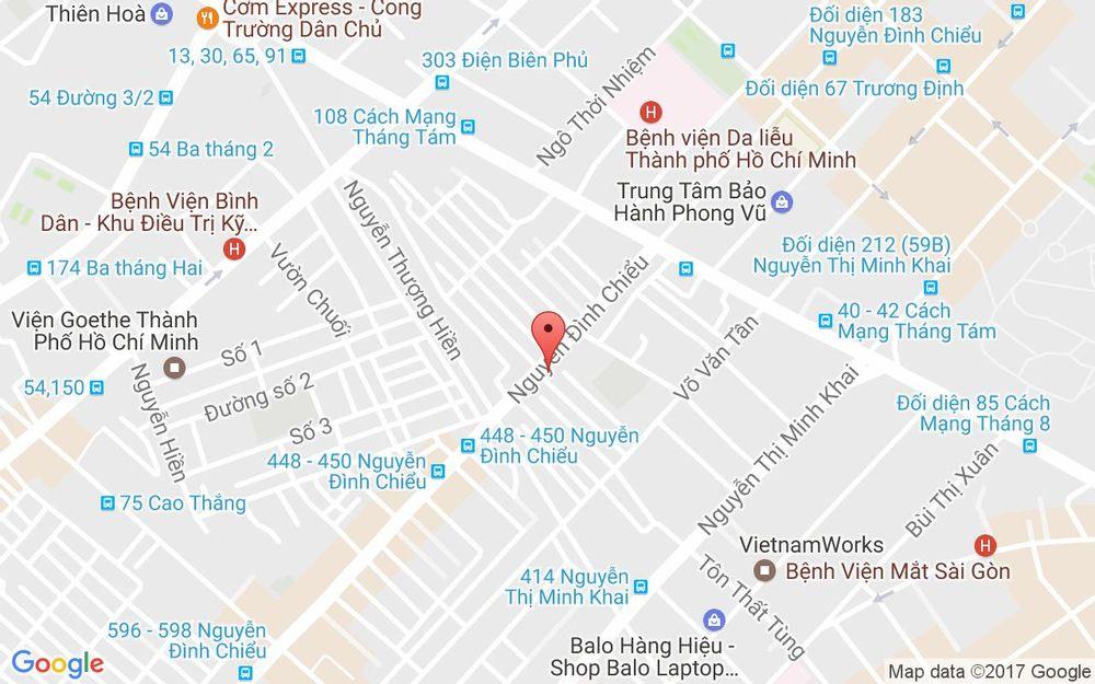 Vị trí bản đồ 255 Nguyễn Đình Chiểu, P. 5 Quận 3 TP. HCM
