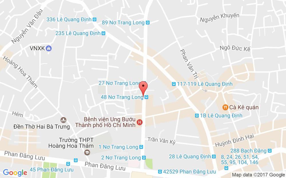 Vị trí bản đồ 15B Nơ Trang Long Quận Bình Thạnh TP. HCM
