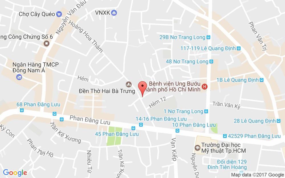 Vị trí bản đồ 10A Hoàng Hoa Thám, P. 7 Quận Bình Thạnh TP. HCM