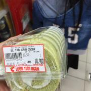 Bánh kem cuộn trà xanh