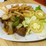 Bò lúc lắc + khoai tây