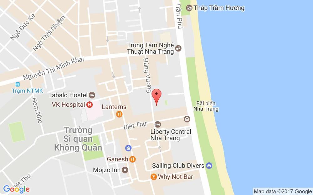 Vị trí bản đồ 6 Biệt Thự Tp. Nha Trang Khánh Hoà