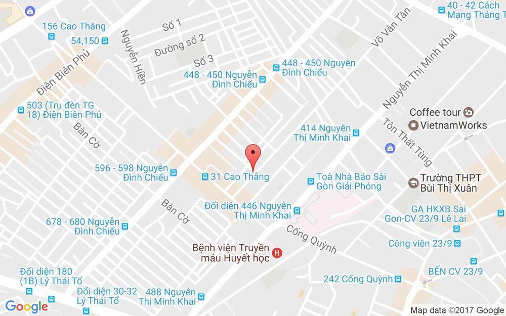 Vị trí bản đồ 441/21 Nguyễn Đình Chiểu Quận 3 TP. HCM