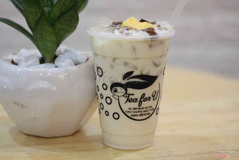 Trà sữa trà Xanh Topping Thập cẩm