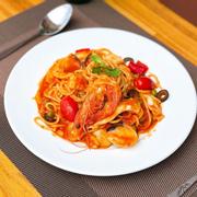 Mỳ ý hải sản sốt cà chua 🍅