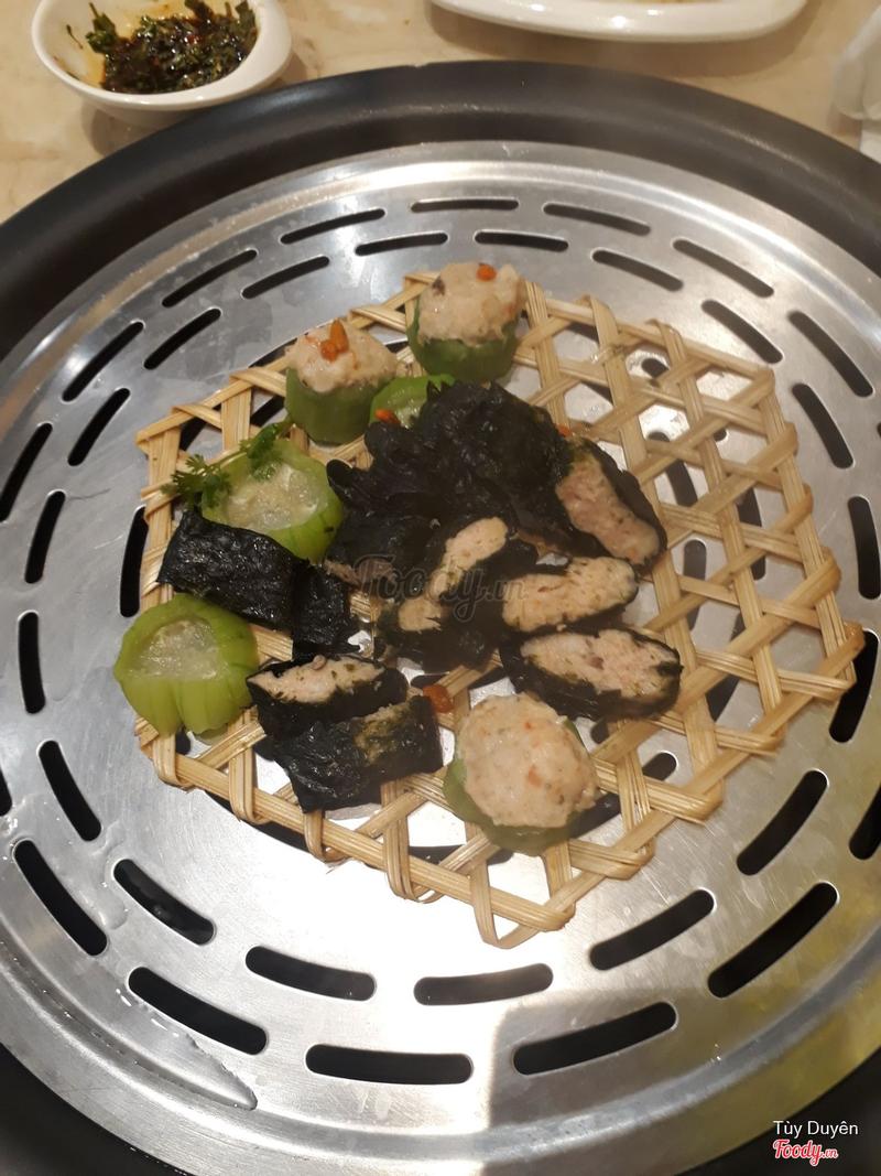 Rong biển cuộn tôm