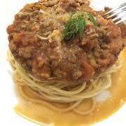 Spaghetti siêu nhiều! Nhiều thịt!