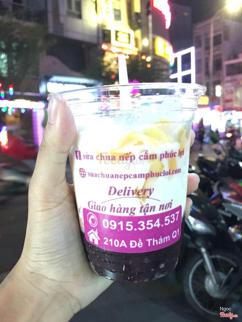 1 ly gồm sữa chua+nếp cẩm+mít+dừa sợi