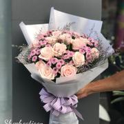 Bó hoa hồng mix cúc calimero