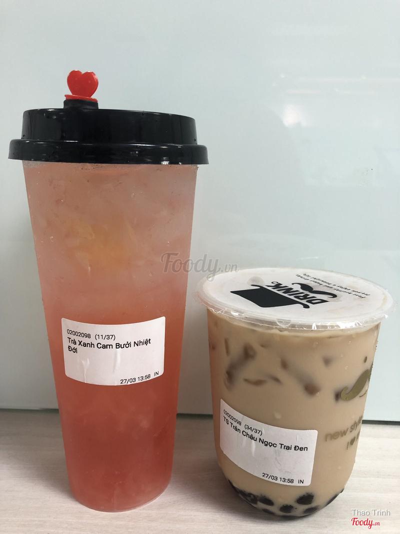 Trà xanh cam bưởi nhiệt đới - Trà sữa trân châu ngọc trai đen