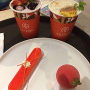 #lycheestrawberryhibicustea #travaidauhibicus #pineappleberrytea #traduaquamong #strawberryfruit #mangocheese
