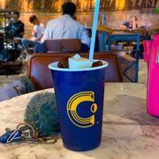 Cà phê sữa đá rất đặc trưng với đá vị sữa và cà phê!