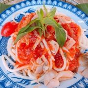 Spaghetti chay sốt kem nấm