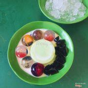 Thạch bơ trái cây pha lê
