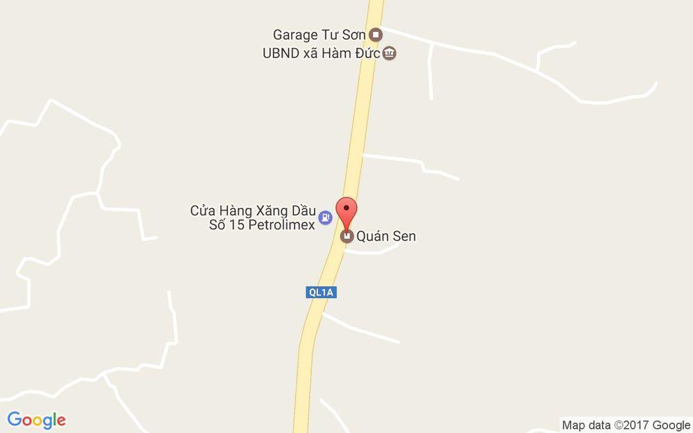 Vị trí bản đồ Quốc Lộ 1A, Xã Hàm Đức Hàm Thuận Bắc Bình Thuận