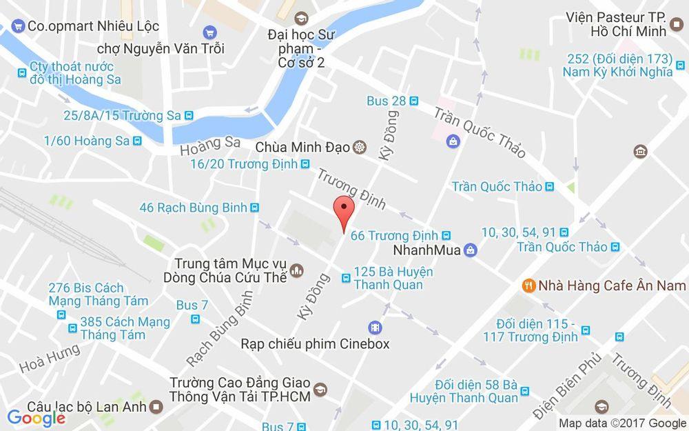 Vị trí bản đồ 20/38A Kỳ Đồng, P. 9 Quận 3 TP. HCM