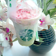 Greentea strawberry blossom