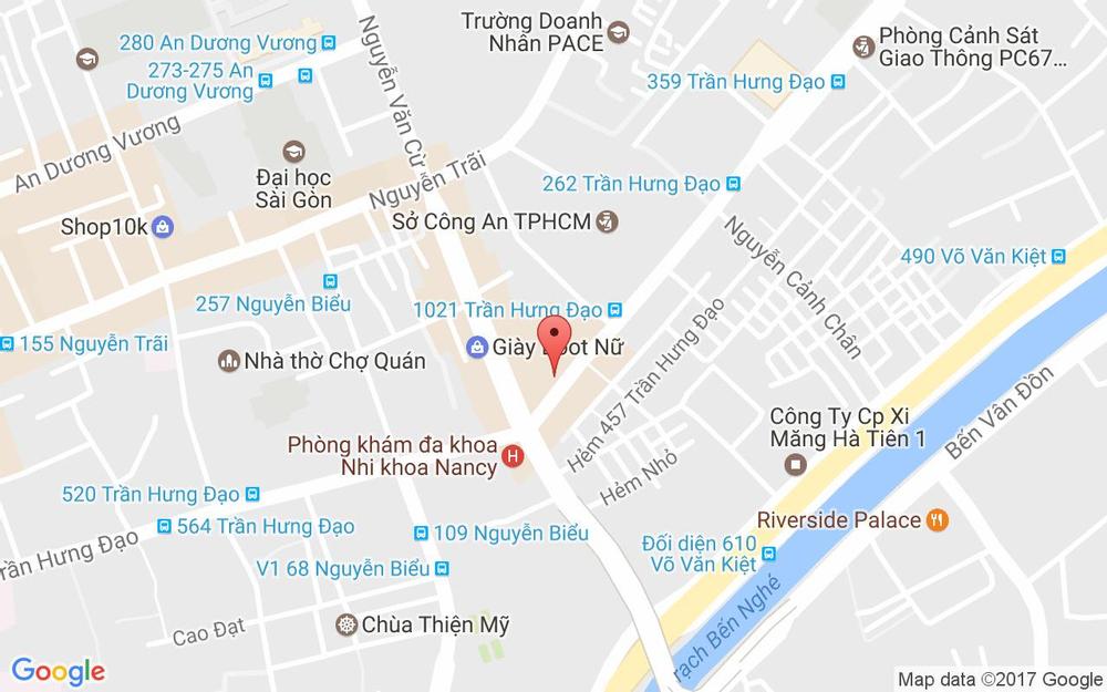 Vị trí bản đồ 320 Trần Hưng Đạo Quận 1 TP. HCM
