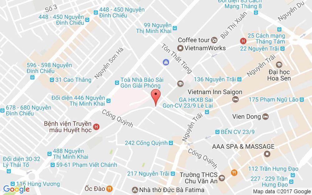 Vị trí bản đồ 160 Bis Bùi Thị Xuân, P. Phạm Ngũ Lão Quận 1 TP. HCM