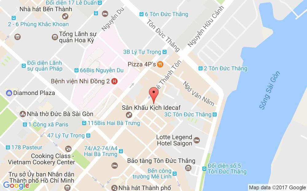 Vị trí bản đồ 15B/25 Lê Thánh Tôn, P. Bến Nghé Quận 1 TP. HCM