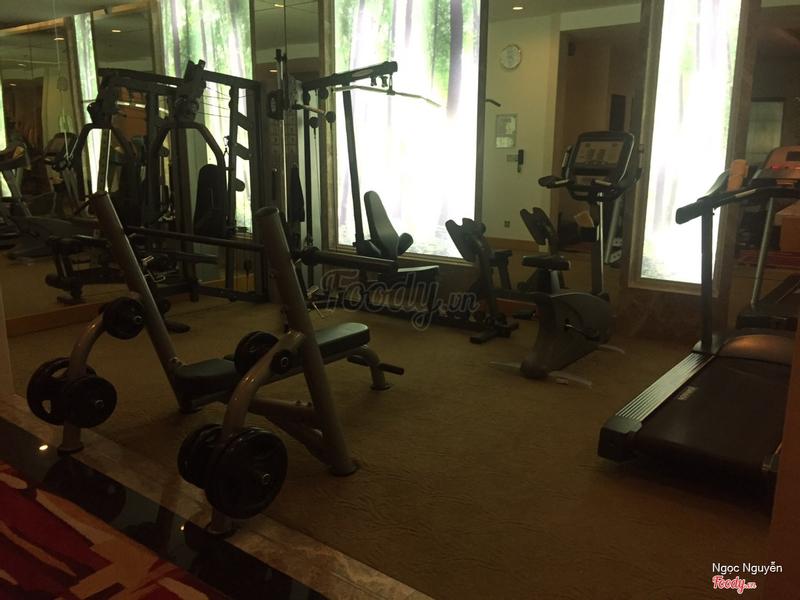 Một góc nhỏ để gym tầng 17