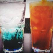 Soda blue và trà đào