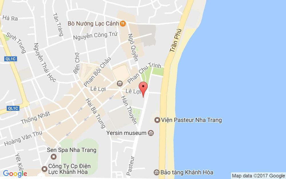 Vị trí bản đồ 4 Pasteur, P. Xương Huân Tp. Nha Trang Khánh Hoà
