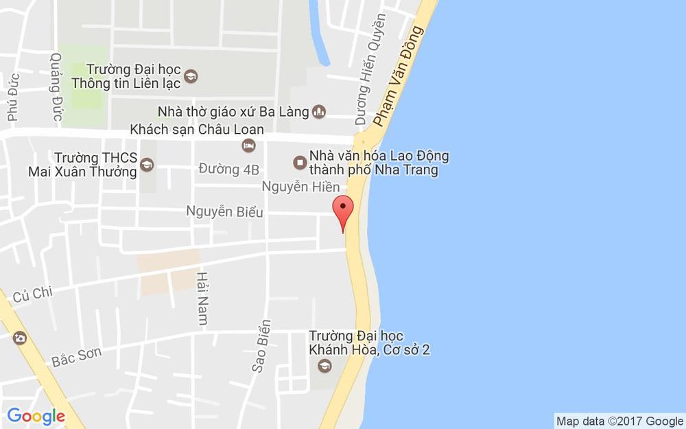 Vị trí bản đồ 42 Phạm Văn Đồng Tp. Nha Trang Khánh Hoà