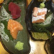 Sashimi cá hồi, cá ngừ và bụng cá hồi