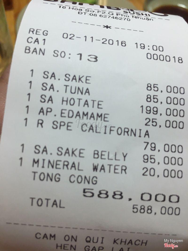 Sashimi cá ngừ cá hồi có 5 miếng