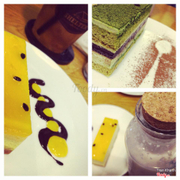 Passion Cheese Cake, and Green Tea Mousse