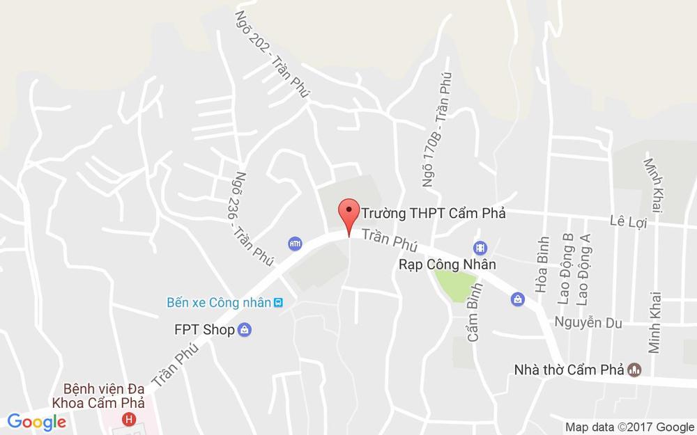 Vị trí bản đồ 263 Trần Phú  Tp. Cẩm Phả Quảng Ninh