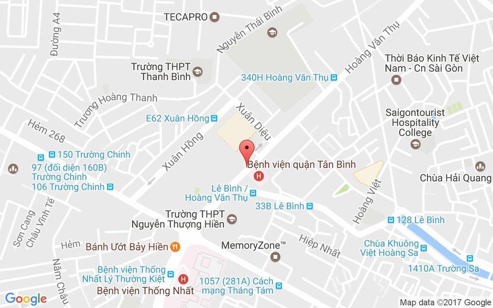 Vị trí bản đồ E49 - 50 Xuân Hồng, P. 12 Quận Tân Bình TP. HCM