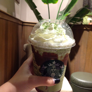 I'm a Starbucks-aholic with Matcha Double Chocolate ^^