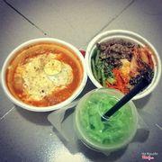 Tokbokki phô mai + cơm trộn + trà sữa thái