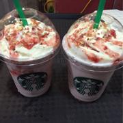 Strawberry chesse cake frappuccino
