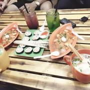 Kimbap + toboki + trà sữa