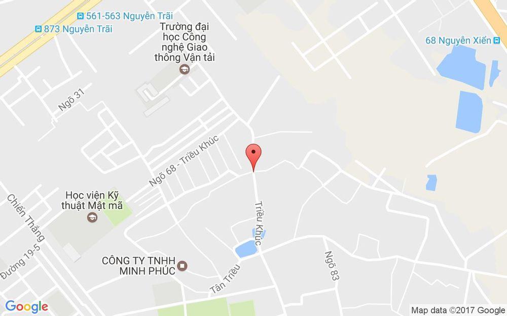 Vị trí bản đồ 128 Triều Khúc Quận Thanh Xuân Hà Nội