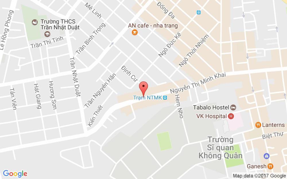 Vị trí bản đồ 101 Nguyễn Thị Minh Khai Tp. Nha Trang Khánh Hoà