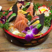 Sashimi cá hồi, cá trích ep trứng nhật