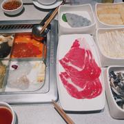 Thịt bò, tôm băm, lá sách và tàu hũ ki