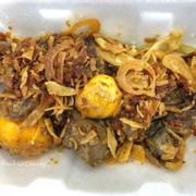 Lòng gà trứng non cháy tỏi (30k)
